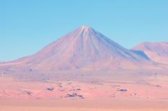 Flamingos in the lake in Atacama desert. Royalty Free Stock Images