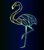 Flamingosticker - tendens van het seizoen Stock Afbeelding