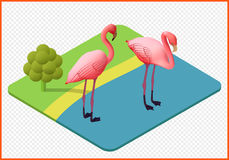 Flamingovektor ENV Lizenzfreies Stockfoto