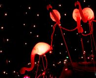 Flamingoweihnachten stockfotografie