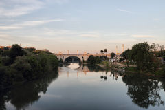Flaminio bridge n Rome , Italy Royalty Free Stock Photos