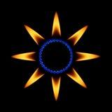 flamm stjärnan royaltyfri illustrationer