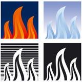 flamma Vektor Illustrationer