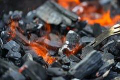 Flamma av brand och gnistor Arkivbilder