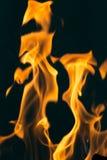 Flamma av brand som bakgrunden Royaltyfri Bild