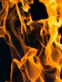 Flamma av brand som bakgrunden Royaltyfri Foto