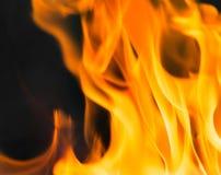 Flamma av brand som bakgrunden Arkivfoto