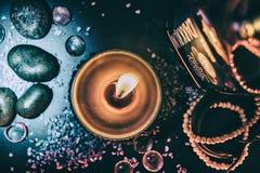 Flamma av stearinljuset arkivbild