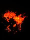 Flamma bakgrund Arkivbild