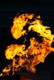 Flamma brand, eldsvåda Arkivbild