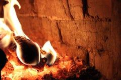 Flamma brand, värme arkivbild