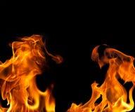 flamma för bakgrundskantbrand Arkivfoton
