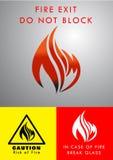 Flamma Logo Design royaltyfri illustrationer