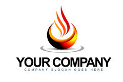 Flamma logoen Royaltyfri Foto