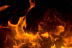 Flamma med gnistor Royaltyfri Bild