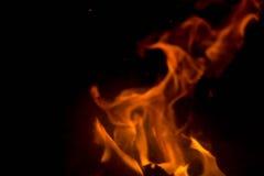 Flamma med gnistor Royaltyfria Bilder