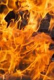 Flamma slut upp Arkivfoton