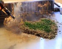 flamma stekte ris Royaltyfri Fotografi