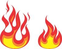 Flamma två royaltyfri foto