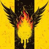 Flamma vingar royaltyfri illustrationer