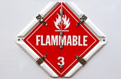 Flammable Obraz Stock