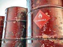 Flammable barrels Royalty Free Stock Photos