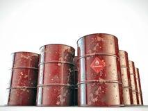 Flammable barrels Stock Image