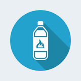 Flammable bottle icon. Vector illustration of single isolated flammable bottle icon Stock Photography
