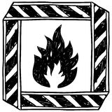 Flammable caution symbol vector Stock Photo