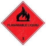Flammable ciecza znak ilustracja wektor