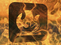 Flammable. Digital rendering of a flammable sign Stock Photography