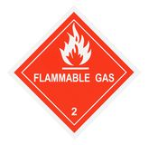 Flammable Gas Warning Label Stock Photo