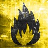 Flammable hazard sign Stock Photo