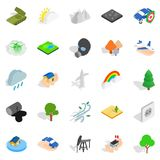 Flammable icons set, isometric style. Flammable icons set. Isometric set of 25 flammable vector icons for web isolated on white background Royalty Free Stock Photos