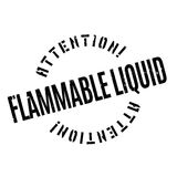 Flammable Liquid rubber stamp Stock Photo