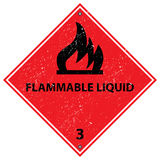 Flammable Liquid sign Royalty Free Stock Image