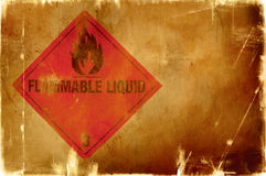 Flammable liquid sign(warm background) Royalty Free Stock Images