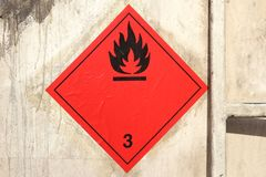 Flammable liquids royalty free stock photography