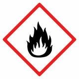 Flammable materiału znaka wektorowy projekt Zdjęcie Stock