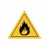 Flammable material sign vector design. ISO 7010 W021 Warning symbol Stock Image