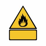 Flammable material sign vector design. ISO 7010 W021 Warning symbol Stock Photo