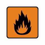 Flammable material sign vector design royalty free stock images