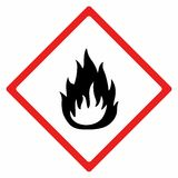 Flammable material sign vector design. ISO 7010  Warning symbol Stock Photo