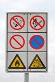 Flammable ostrzeżenie Fotografia Stock
