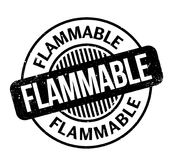 Flammable rubber stamp Royalty Free Stock Photos