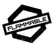 Flammable rubber stamp Stock Image