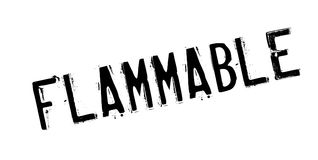 Flammable rubber stamp Royalty Free Stock Photo