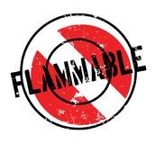 Flammable rubber stamp Royalty Free Stock Image