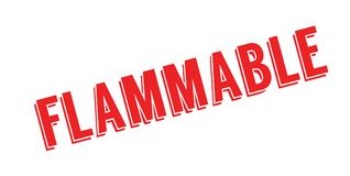 Flammable rubber stamp Stock Photo