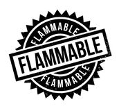 Flammable rubber stamp Royalty Free Stock Images